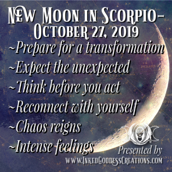 New Moon in Scorpio- October 27, 2019