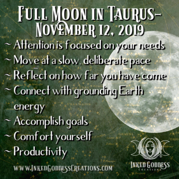 Full Moon in Taurus- November 12, 2019