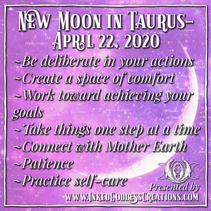 New Moon in Taurus- April 22, 2020