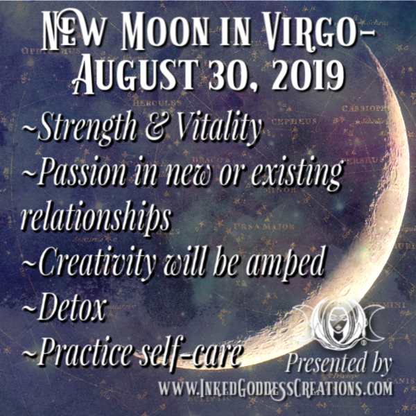 New Moon in Virgo- August 30, 2019