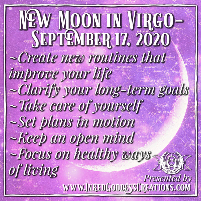 New Moon in Virgo- September 17, 2020