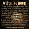 The Witching Hour- 3 to 4 AM Spiritual Message Time