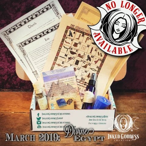 March 2019 Inked Goddess Creations Box: Divine Egypt