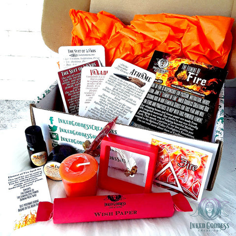 June 2021 Inked Goddess Creations Box: The Element of Fire
