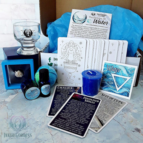 September 2021 Inked Goddess Creations Box: The Element of Water