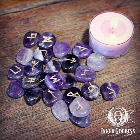 Amethyst Rune Set from Inked Goddess Creations