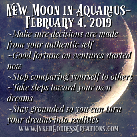 New Moon in Aquarius- February 4, 2019