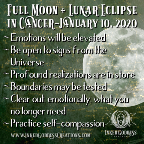 Full Moon & Lunar Eclipse in Cancer- January 10, 2020