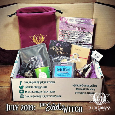 July 2019 Inked Goddess Creations Box- The Eclectic Witch