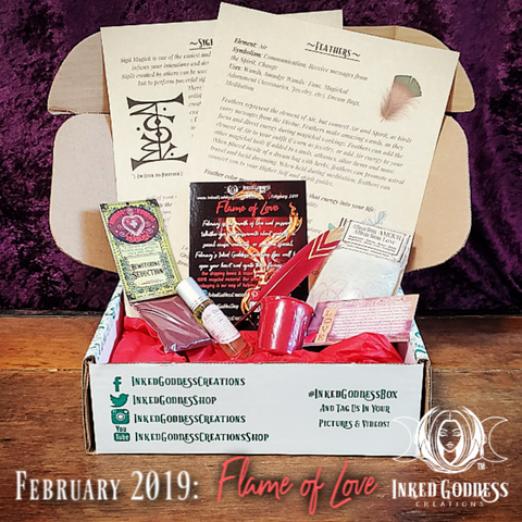 February 2019 Inked Goddess Creations Box- Flame of Love