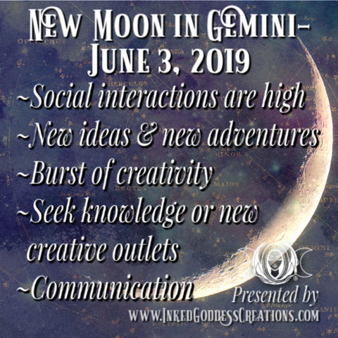 Gemini New Moon- June 3, 2019