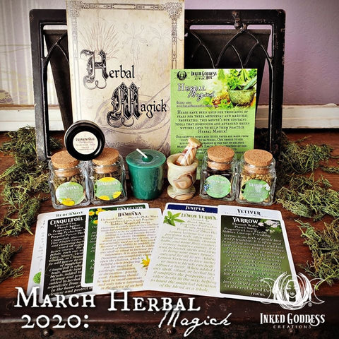 March 2020 Inked Goddess Creations Box: Herbal Magick
