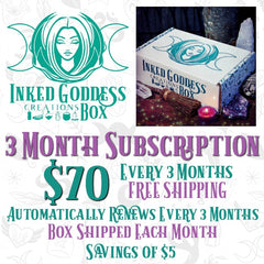 Inked Goddess Creations Box- 3 Month Subscription