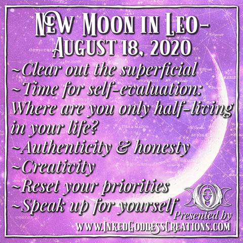 New Moon in Leo- August 18, 2020