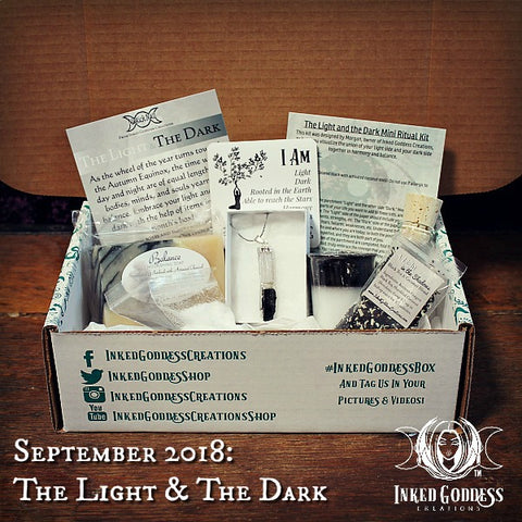 September 2018 Magick Mail- The Light & The Dark