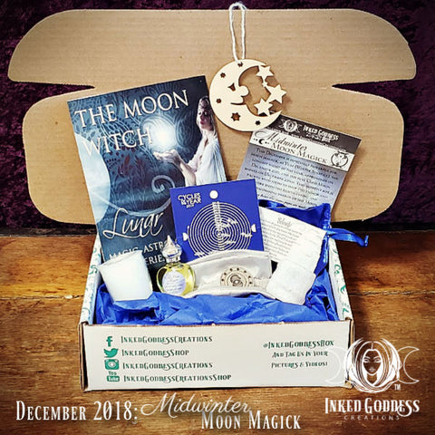 December 2018 Inked Goddess Creations Box- Midwinter Moon Magick