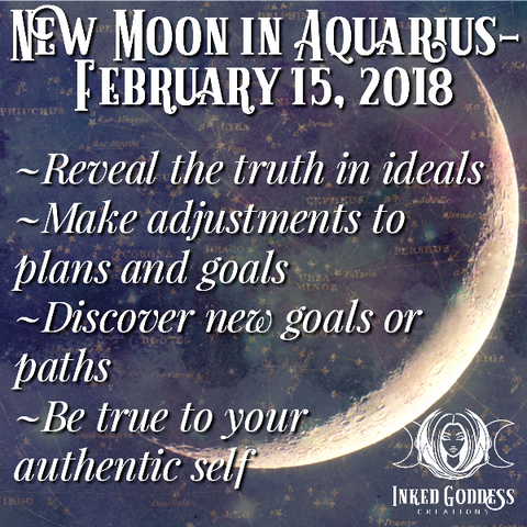 New Moon in Aquarius, February 15, 2018