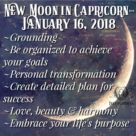 New Moon in Capricorn- January 16, 2018