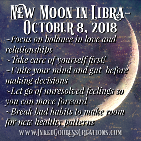 New Moon in Libra- October 8, 2018