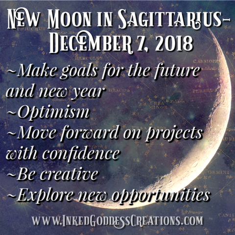 New Moon in Sagittarius- December 7, 2018