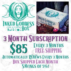 3 Month Subscription Inked Goddess Creations Box