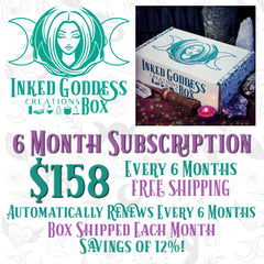 6 Month Subscription Inked Goddess Creations Box