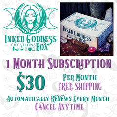 Monthly Subscription Inked Goddess Creations Box