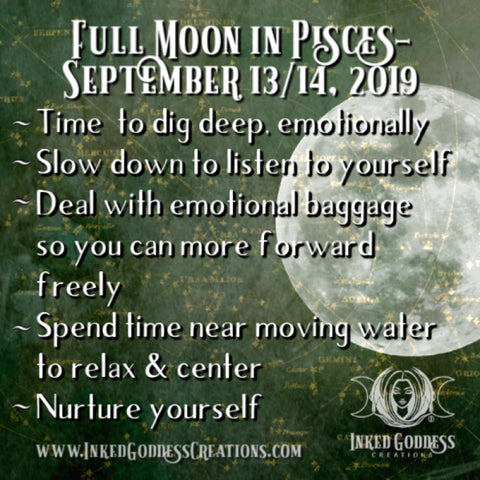 Full Moon in Pisces- September 13/14, 2019