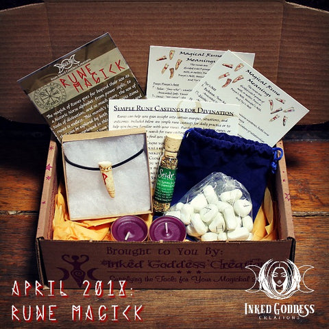 Rune Magick- April 2018 Magick Mail Box