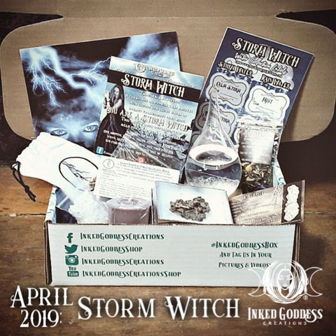 April 2019 Inked Goddess Creations Box- Storm Witch