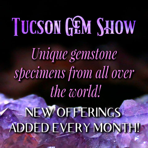 Tucson Gem Show Specimens from Inked Goddess Creations
