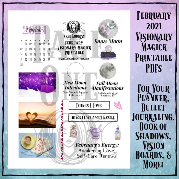 February 2021 Visionary Magick PDF Printable