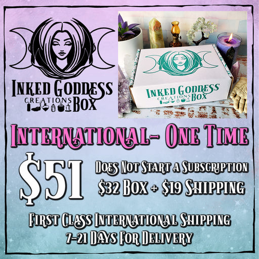 Inked Goddess Creations Box- One Time Purchase- International Listing