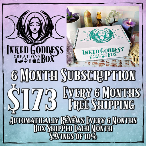 Inked Goddess Creations Box (Formerly Magick Mail)- 6 Month Recurring Subscription