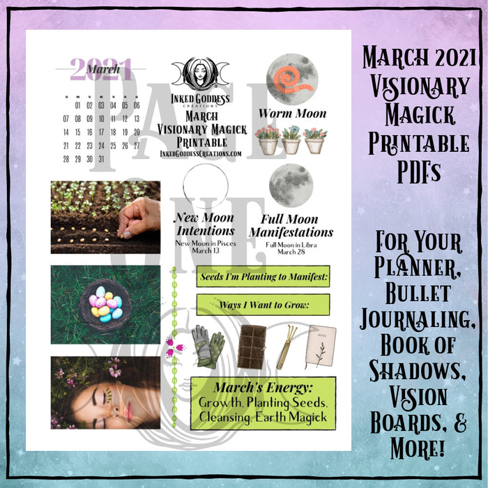 March 2021 Visionary Magick PDF Printable