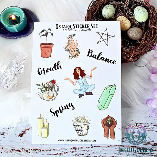 Ostara Sticker Set for Celebrating the Arrival of Spring