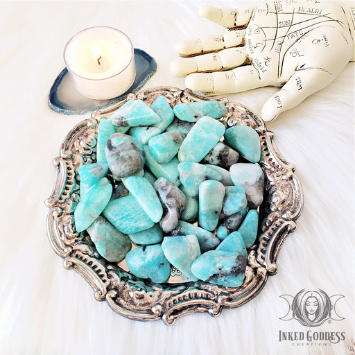 Tumbled Amazonite for Balanced Harmony