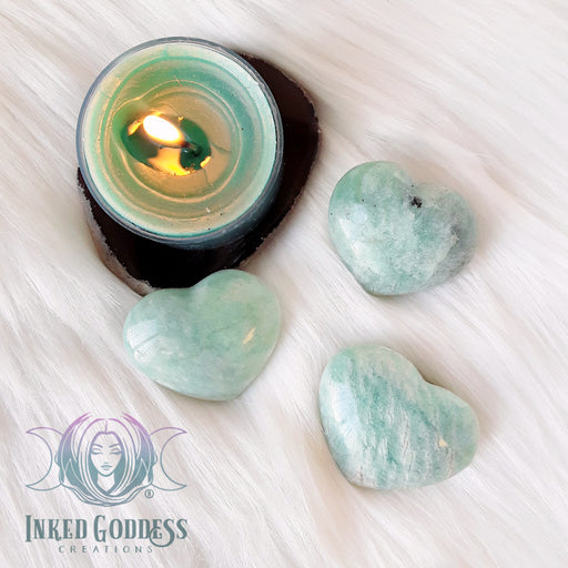 Amazonite Gemstone Heart for Universal Love