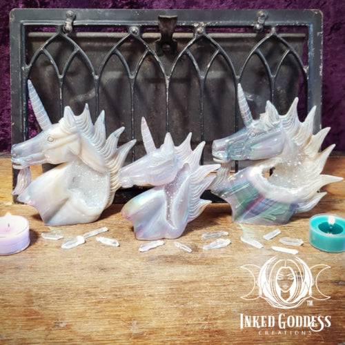 Angel Aura Unicorn Carvings