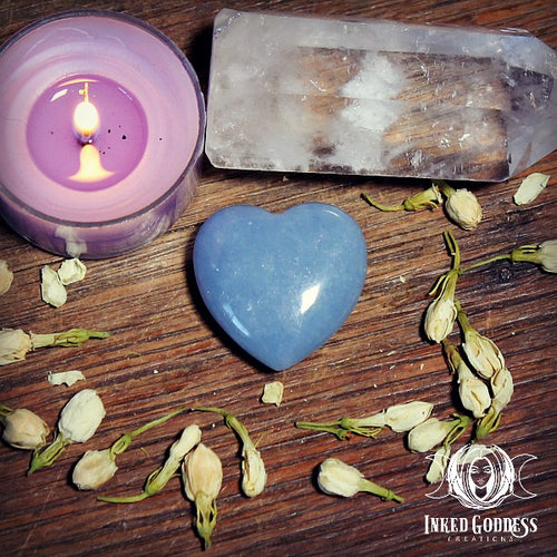 Angelite Gemstone Heart