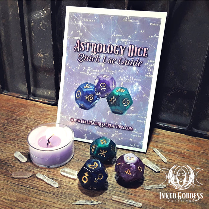 Astrology Dice with Bag and Instructions