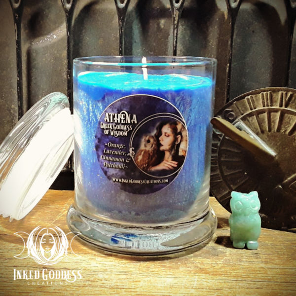 Athena Jar Candle- Greek Goddess of Wisdom