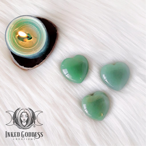 Aventurine Gemstone Heart for Abundance, Matters of the Heart