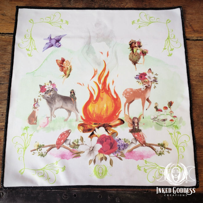 Beltane Altar Cloth for Fiery Spring Magick