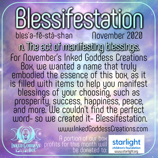 """Blessifestation""- November 2020 Inked Goddess Creations Box- One Time Purchase"