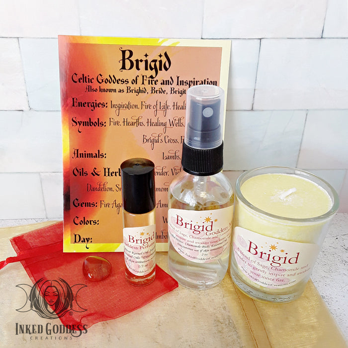 Brigid Goddess Set, Celtic Goddess of Fire and Inspiration