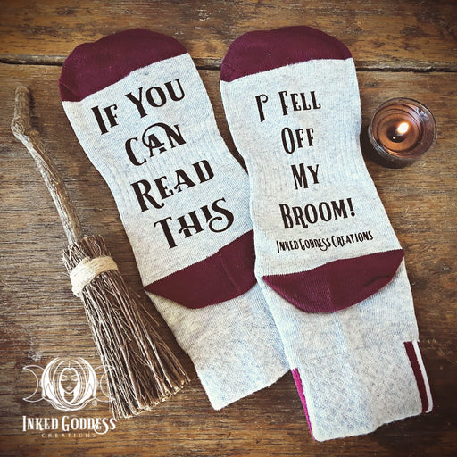 I Fell Off My Broom Socks- One Size Fits Most- IGC Exclusive!