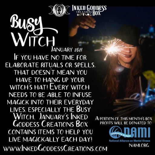 """Busy Witch""- January 2021 Inked Goddess Creations Box- One Time Purchase"