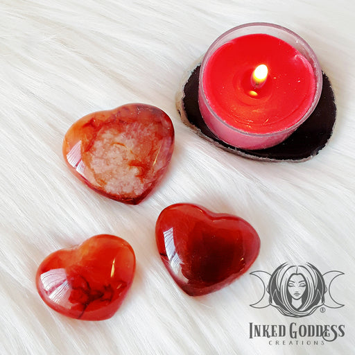 Carnelian Gemstone Heart for Motivation and Concentration