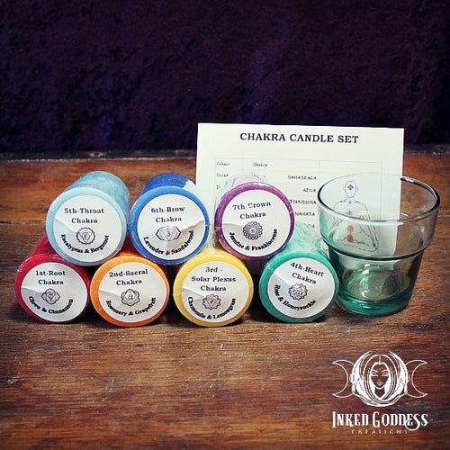 Chakras Votive Candle Set